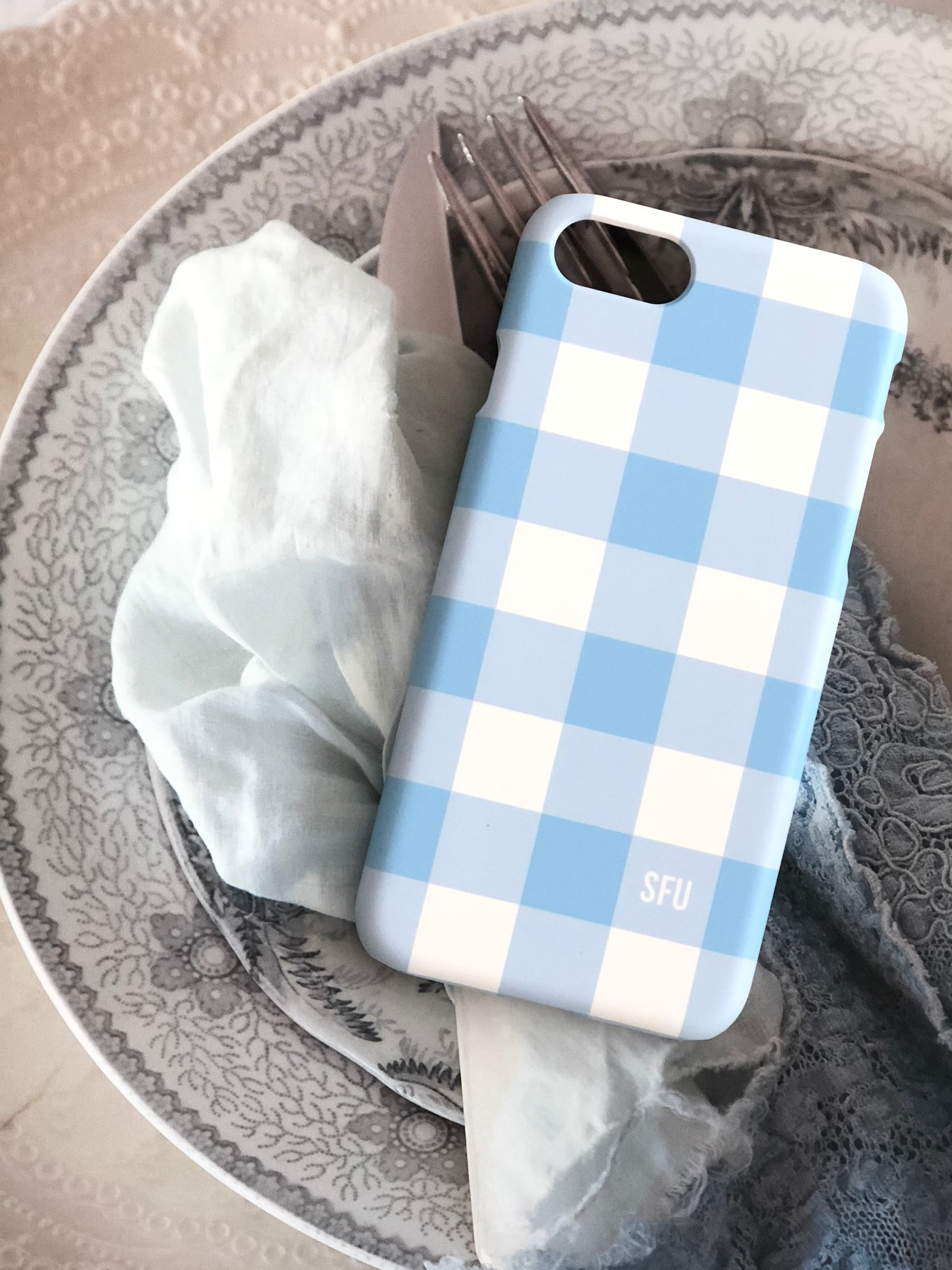 Gingham Lovers [ Ver.2 : Light Blue ]